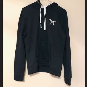 LIKE NEW PINK VS black bling hoodie